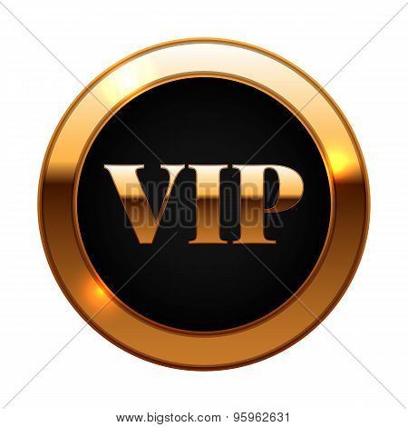 Gold And Black Vip Label Vector Illustration