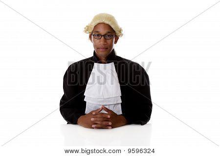 Juiz de americano Africano Young Man.