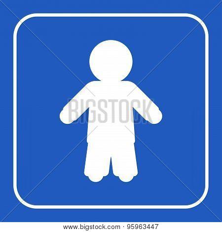 Blue Information Sign - Man