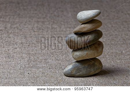 A Small Stack Of Pebbles