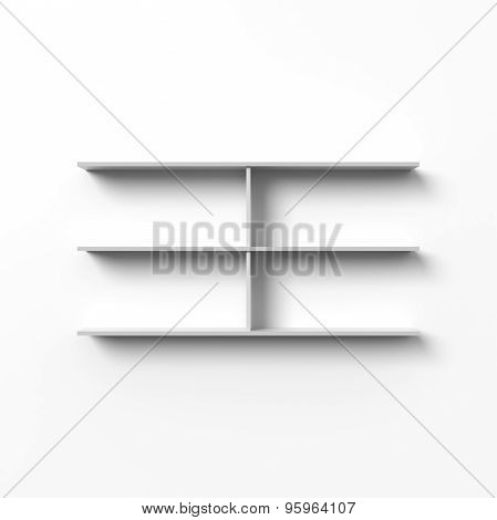 Blank shelves
