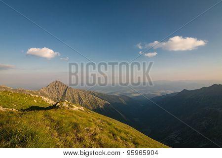 Amazing Evening On Ridge Of The Summer Mountains