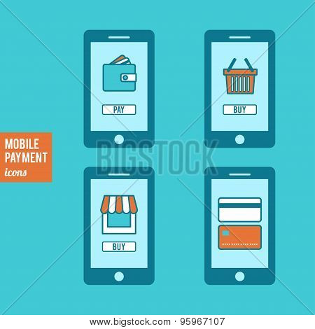 Mobile Payment Icons Set