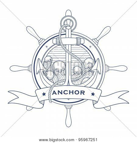 Nautical Logo With an Anchor