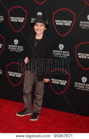LOS ANGELES - JUL 14:  Hunter Payton at the Warner Bros. Studio Tour Hollywood Expansion Official Unveiling, Stage 48: Script To Screen at the Warner Brothers Studio on July 14, 2015 in Burbank, CA