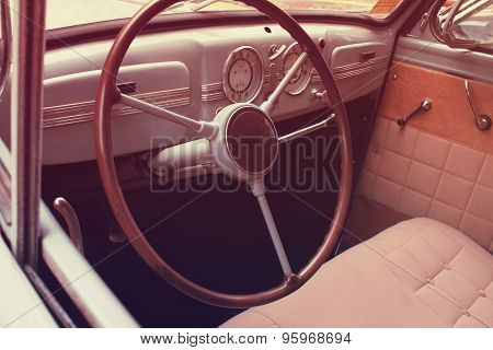 Car Interior (styled Retro)