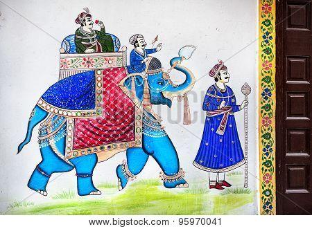 Rajasthan Painting On Haveli
