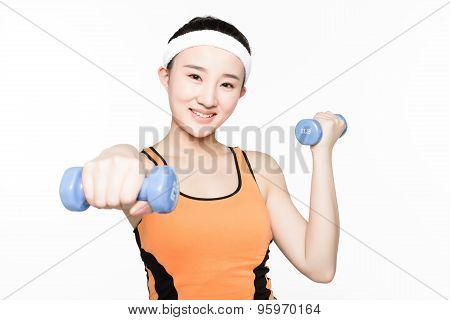 Dumbbell Fitness Girl