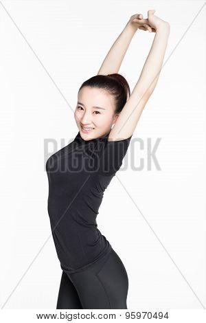 Healthy Young Woman Doing Yoga