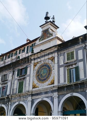 A historical  astronomical clock in Brescia