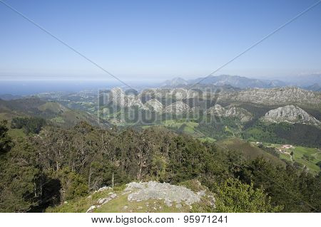 Asturian Peaks And Coast