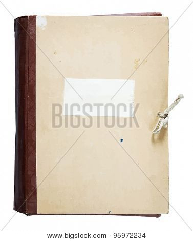 old folder isolated on white background, vector