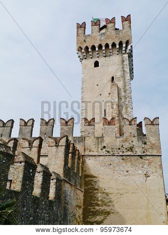 The Scaliger Castle in Sirmione in Italy