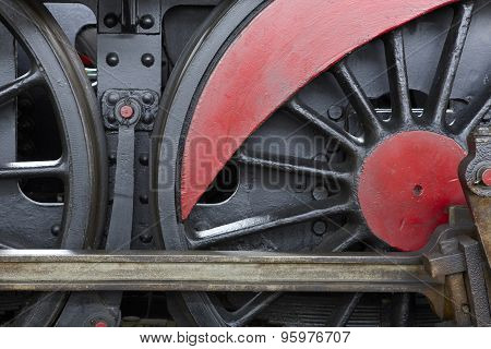 Steam Locomotive Wheel And Connecting Rod Detail