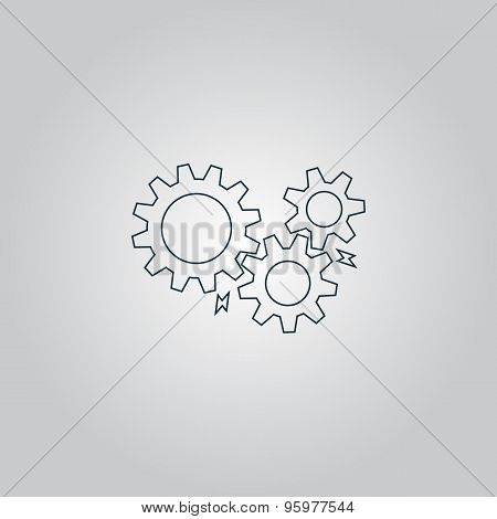Gear with sparks