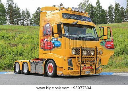 Volvo FH13 Truck With Cars Movie Theme