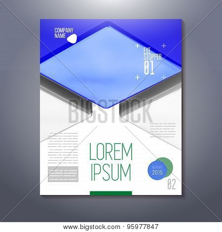 Poster Design With Cubes
