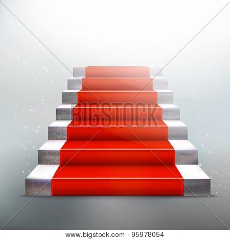 Stone Ladder With Red Carpet
