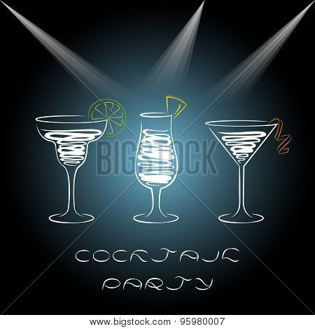Design For Cocktail Party Invitation.