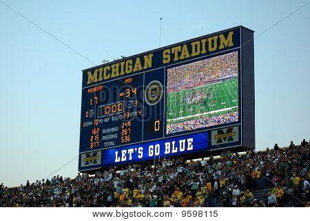 Marcador final del juego del estado de Michigan vs Michigan