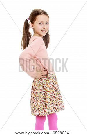 provocative very skinny little girl