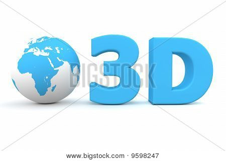 Global 3D - Matt Blue