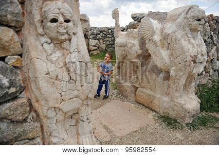Little Boy Visiting Hattusha