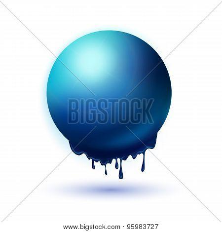 Melting Blue Sphere Concept