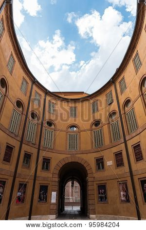 Entrance Of The Main Theatre Of Ferrara City