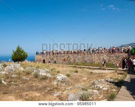 ALANYA, TURKEY - JUNE 23, 2014: Ruins of Ottoman fortress in Alanya . Turkey.