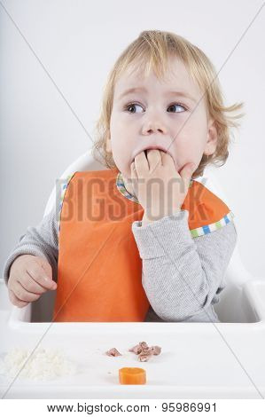 Baby Eating Hand