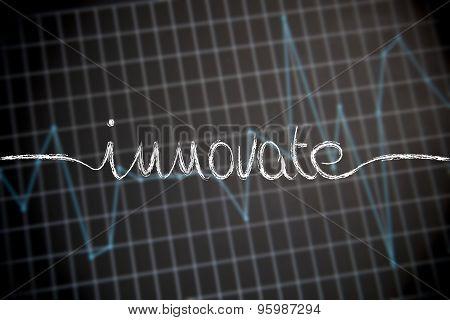 Innovate Handwritten On Stats Graph