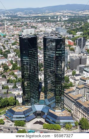 Deutsche Bank Skyscraper In Frankfurt, Germany