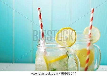 Lemonades In Mason Jars