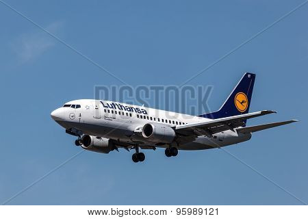 Boeing 737-500 Of The Lufthansa Airline