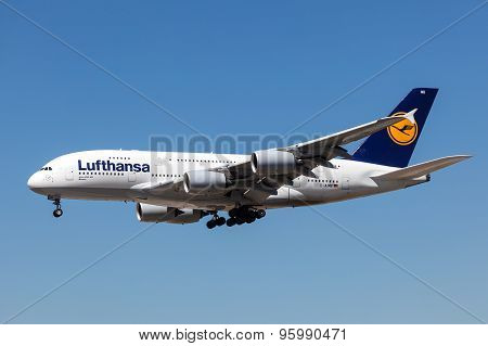 Airbus A380-800 Of The Lufthansa Airline