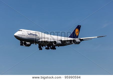 Boeing 747-8 Aircraft Of Lufthansa