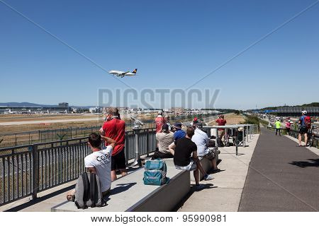 Aircraft Spotting Point At Frankfurt Airport