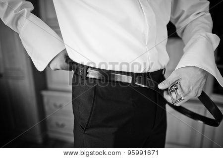 Bridegrooom Tie Belt