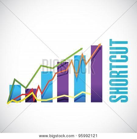 Shortcut Business Graph Sign Concept Illustration