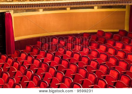 Red Chairs In Classic Theater