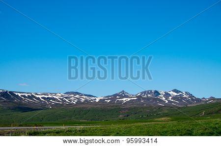 Blue sky in Iceland