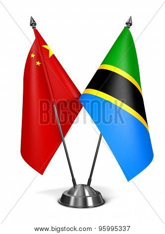 China and Tanzania - Miniature Flags.