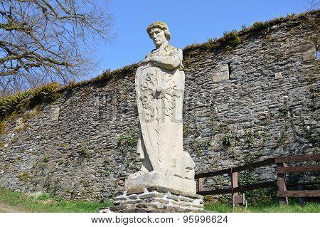 Statue of Godfrey of Bouillon the crusader  in Belgium