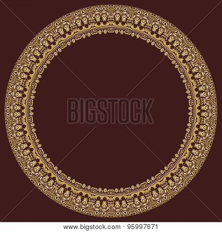 Floral Vector Round Pattern