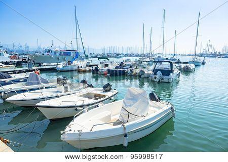 Boats and yachts in the marina of La Spezia, Italy