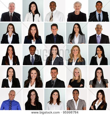 Business Team of Mixed Races Working For A Company