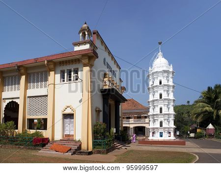 India. Goa. Small Hindu temple in a sunny day