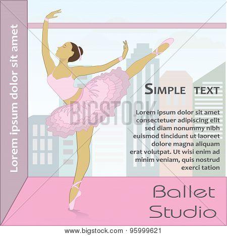 Ballet Dancer, Vector Illustration.