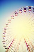 picture of ferris-wheel  - Vintage instagram filtered picture of a ferris wheel - JPG